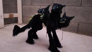 Handmade Poseable Cerberus by KaypeaCreations