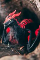 Handmade Poseable Black Wyvern (For Sale) by KaypeaCreations