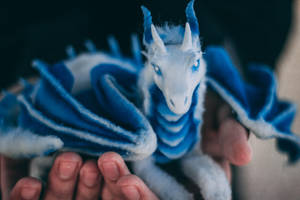 Mini Ice Dragon Poseable Art Doll by KaypeaCreations