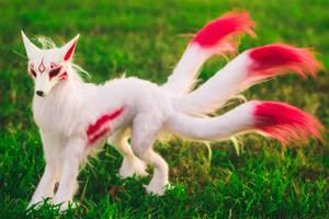 Handmade Poseable Japanese Kitsune Art Doll by KaypeaCreations