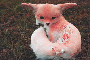 Handmade Poseable Sakura Fox Art Doll by KaypeaCreations