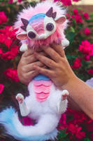 Handmade Poseable Cotton Cady Baby Dragon Art Doll by KaypeaCreations