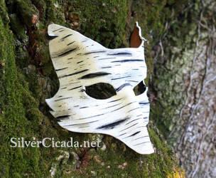 Birch Bark Leather Fox Mask by SilverCicada