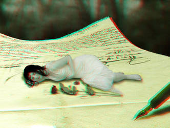 In my words - 3d Anaglyph by Kirtan-3d