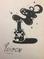 Poison/Poisonous - Inktober Day One by ShadowFoxDrawings