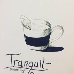 Tranquil - Inktober Day Two by ShadowFoxDrawings