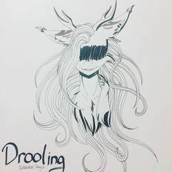 Drooling - Inktober Day Six by ShadowFoxDrawings