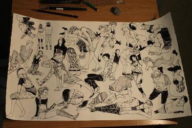 Manga Inking by Starpower18