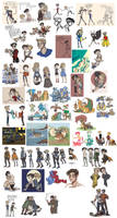 sketch compilation- war-a-thon by rakuyou