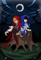 The Girl in Red and The Girl in Blue by TFAfangirl14