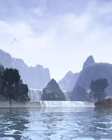 Lake Mist-Scene Stock by shd-stock