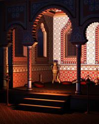 Arabian Alcove-Scene Stock by shd-stock