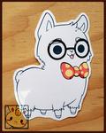 Stickers: Nerdy Llama (Large) by Christina-LY