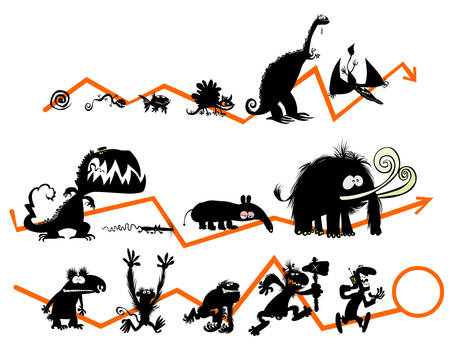 Evolution silhouettes. by Bobbart