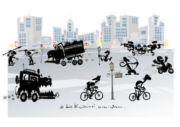 Urban-primitive cartoon. by Bobbart