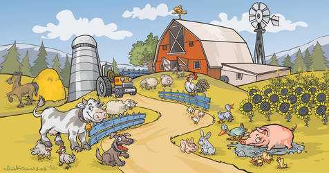 Farm background by Bobbart