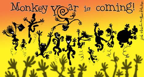 Monkey year by Bobbart