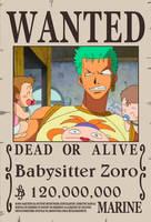 Babysitter Zoro by sturmsoldat1