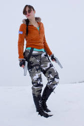 Tomb Raider III in the Snow Desert by OneMorePike