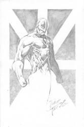 Capt. Britain sketch... by butones