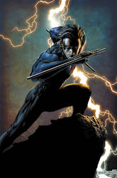 Nightwing print in color by butones