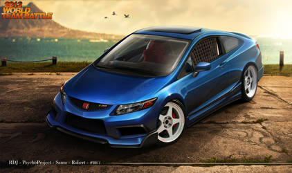 Honda Civic SI 2013 - Team Brazil 1 by RDJDesign