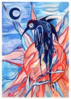 Bird called Fear by AniaMohrbacher