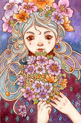 Flower Bride by AniaMohrbacher