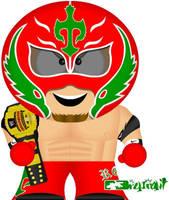 Rey Mysterio Jr. by bizklimkit