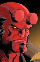 Hellboy colors by firepunk626