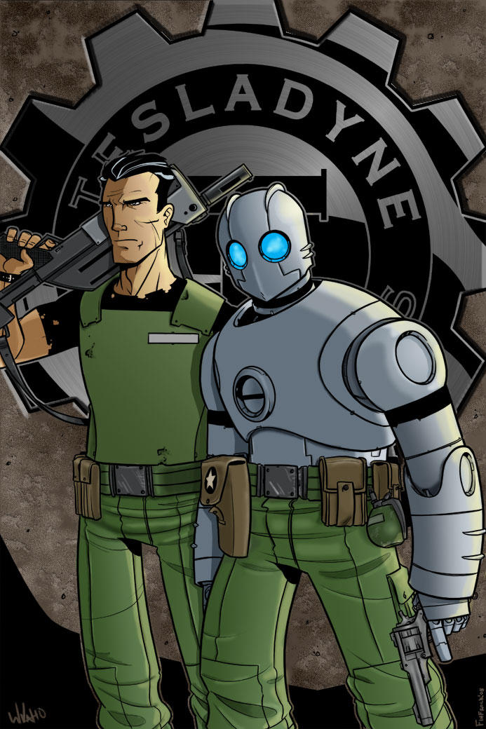 Atomic Robo and Jenkins by firepunk626
