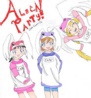 Alien Party -coloured- by RoseStarBerry