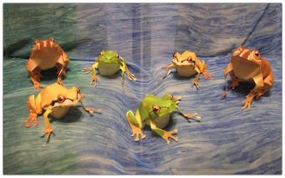 Frog Papercraft by Ombry