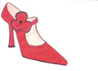 Classy Shoes in Red by Lafuentedevictorique