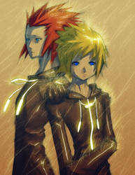 Axel and Roxas... by Mikeinel