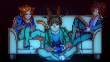 Commission: Gaming Moment by Mikeinel