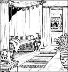 Roman interior - Cubiculum by Asarea