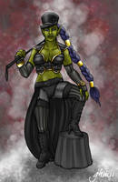 WoW: Moulin Rouge Orc Girl by Asarea