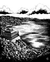 Weindunkler See by Asarea