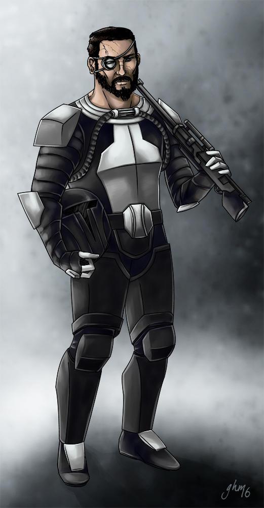 Taffiss Ordo - Mandalorian Warrior by Asarea