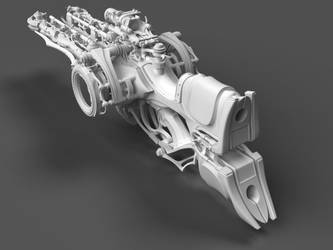 Heretic Crossbow WIP - Back view by Samouel