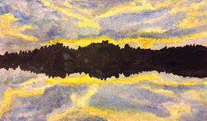 The Yellow Sky 2 Painting by MontyMouse