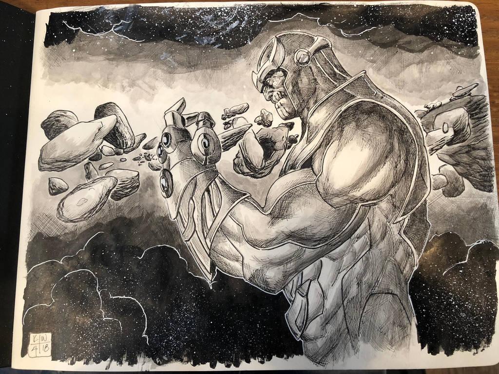 Thanos  by KenWongArt