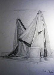 Still life study with cube by RedCrow-ART