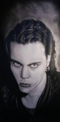 Portrait of Ville Valo by RedCrow-ART