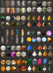 100 material \ texture studies by tepuitrouble