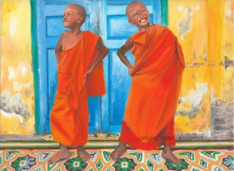 Little Buddhists by Sorka-of-Eawy