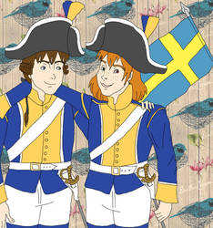 Soldats suedois 1795 by Griffonetfourmis1793