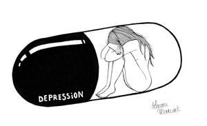 Pills - Depression by lauramarcuet