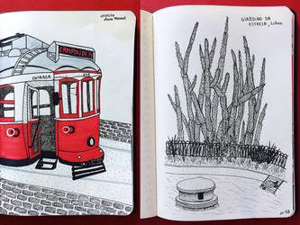 Sketches of Lisbon by lauramarcuet